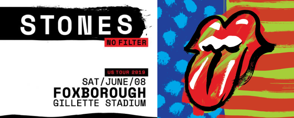 Stones No Filter. US Tour 2019. Saturday June 8. Foxborough, Gillette Stadium.